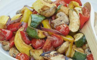 Вегетарианский овощной шашлык